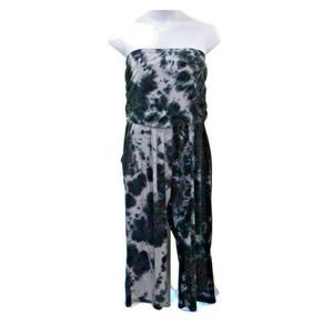 J for Justify 2X Strapless Tie Dye Jumpsuit NWOT